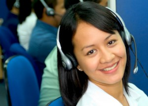 filipina customer service agent
