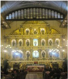 The Altar of Sto. Niño Church