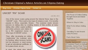 A Legitimate Site Informs Members of Sample Scams