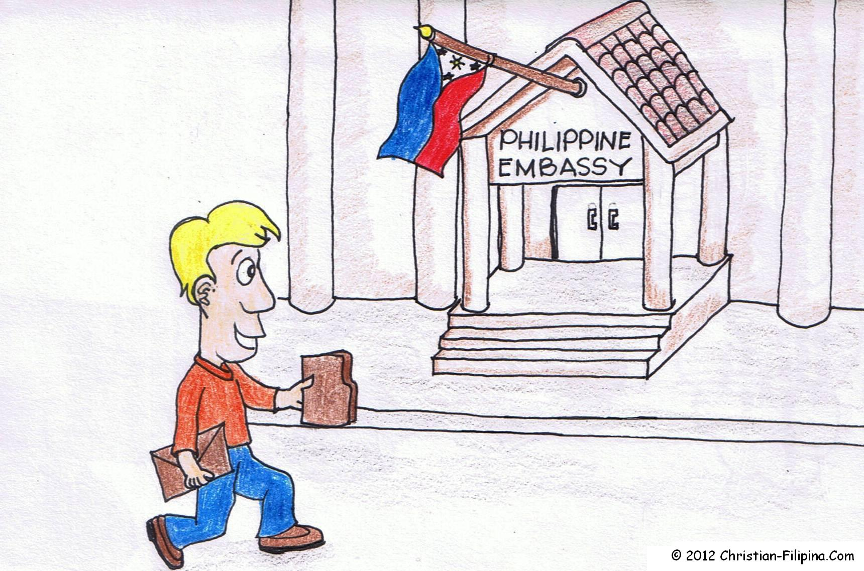 Applying for a visa at the Philippine Embassy