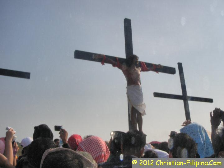 A man trying to wash away his sins by reliving Christ's Suffering at the Cross