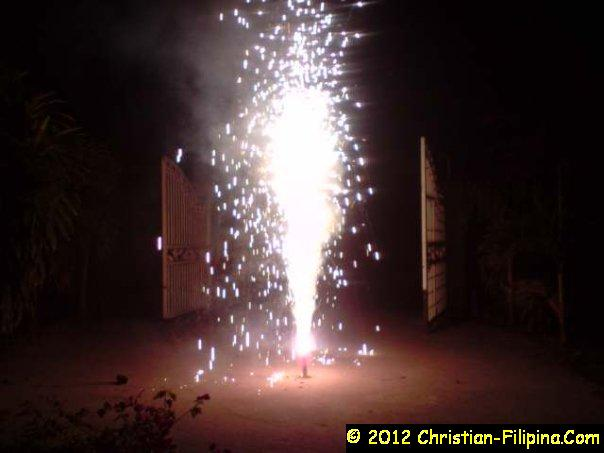 The eye-catching firecrackers complete the celebration of New Year's Eve