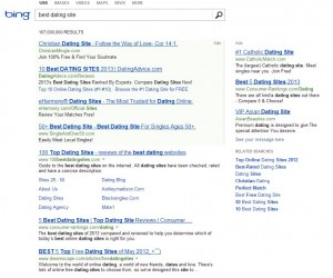 Results for Query in Bing: Best Dating Site