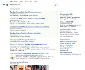 Bing.Com Query: Foreign Wife Asia