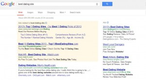 Google.com Result for Query: Best Dating Site