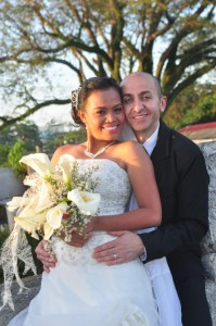 """The lovely couple after they said their """"I do""""."""